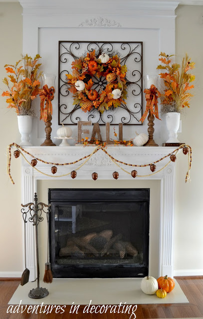 Fall Decor For Fireplace  Adventures in Decorating Kicking off Fall with Our 2015