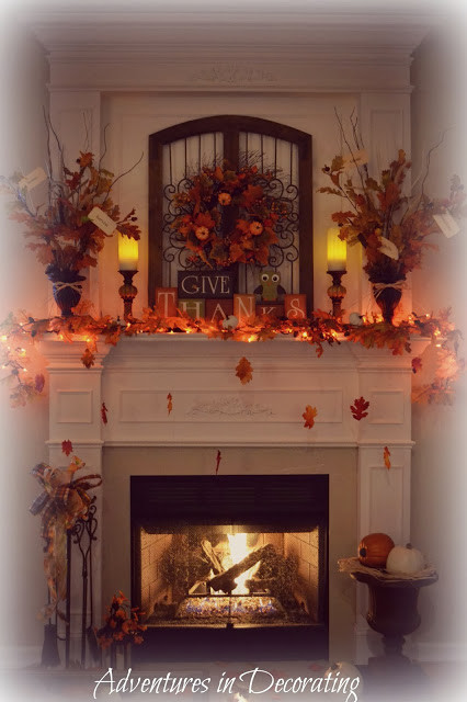 Fall Decor For Fireplace  Adventures in Decorating Our Fall Mantel