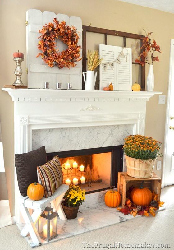 Fall Decor For Fireplace  DIY Fall Mantel Decor Ideas to Inspire landeelu