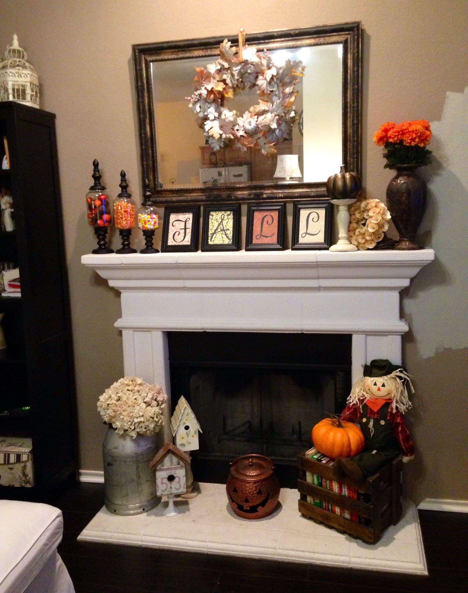 Fall Decor For Fireplace  Fireplace Fall decor Fall into Autumn