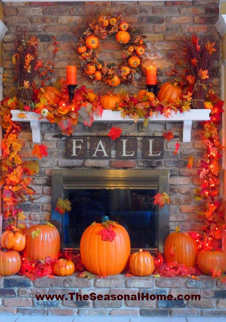 Fall Decor For Fireplace  mantle decor