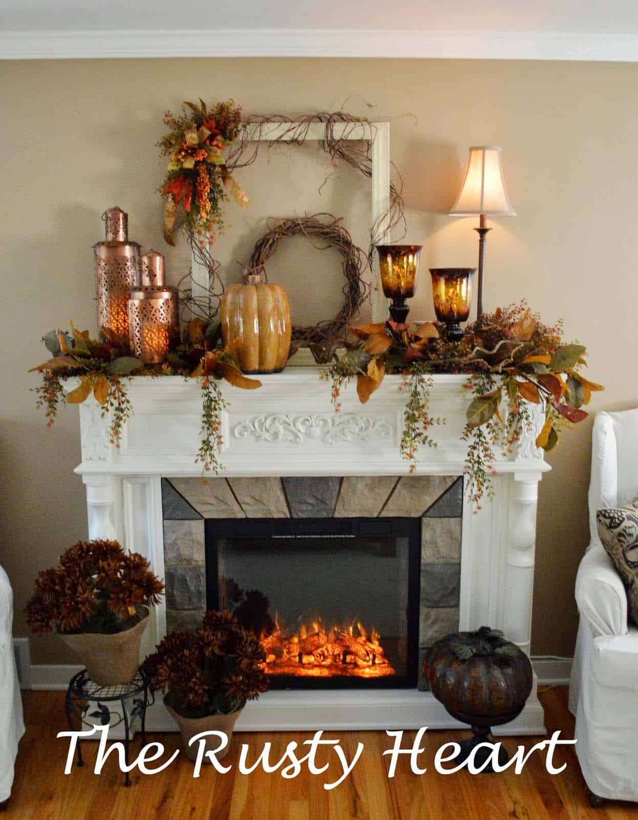 Fall Decor For Fireplace  30 Amazing fall decorating ideas for your fireplace mantel