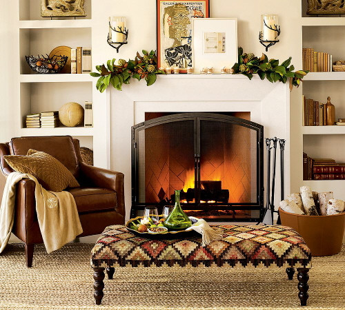Fall Decor For Fireplace  Fireplace Mantel Decor Ideas for Decorating for Thanksgiving