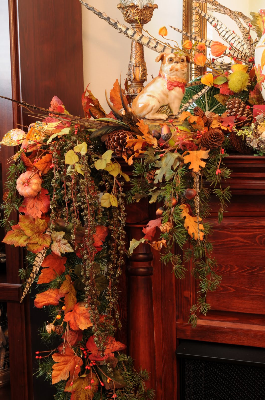 Fall Decor For Fireplace Mantel  Sweet Designs Fall Fireplace Mantel decorating