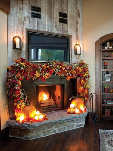 Fall Decor For Fireplace Mantel  1000 ideas about Fall Fireplace on Pinterest