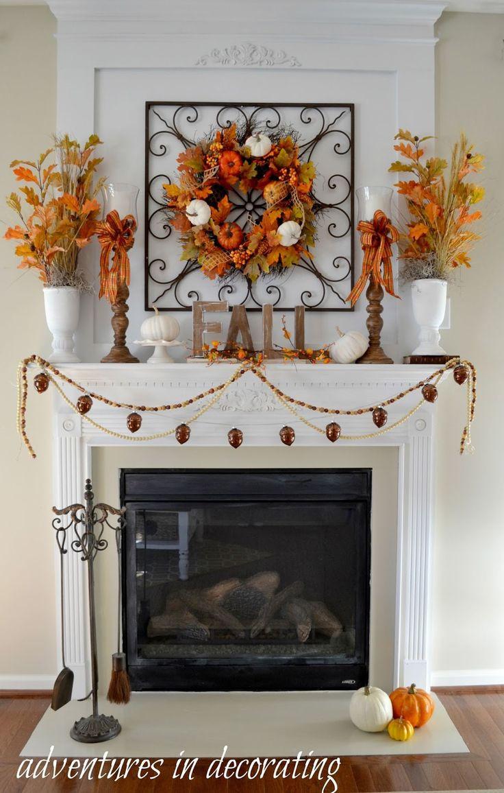 Fall Decor For Fireplace Mantel  Best 25 Fall fireplace decor ideas on Pinterest