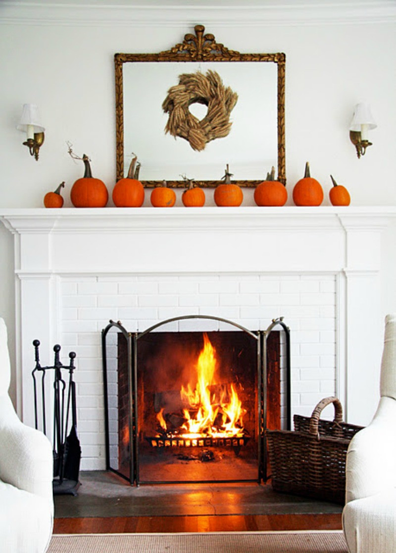 Fall Decor For Fireplace Mantel  15 Fall Decor Ideas for your Fireplace Mantle