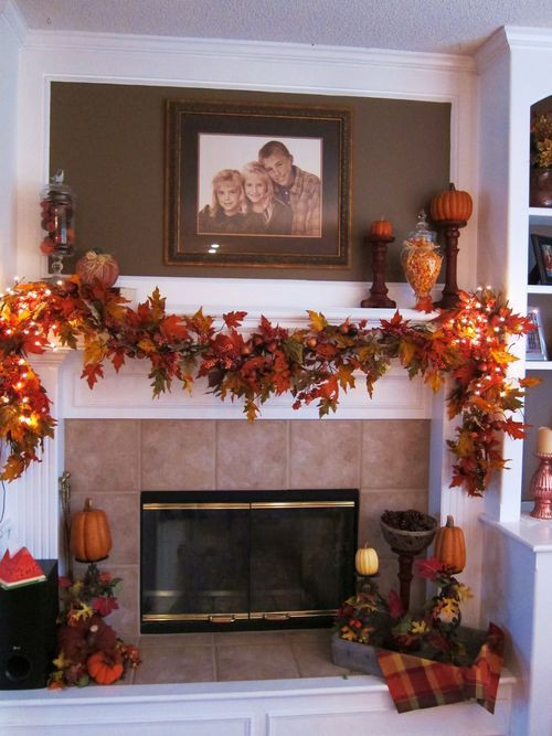 Fall Decor For Fireplace Mantel  37 Awesome Garland Ideas To Wel e The Fall DigsDigs