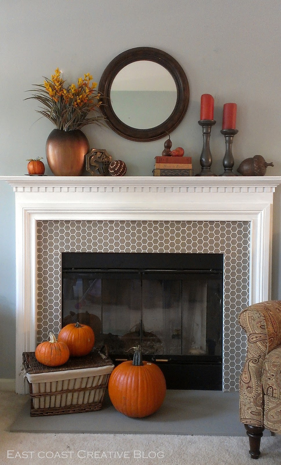 Fall Decor For Fireplace Mantel  A Fall Mantel 2 Ways Mantle