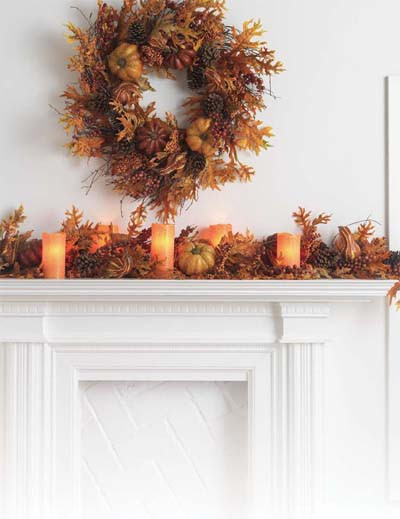 Fall Decor For Fireplace Mantel  Autumn Fireplace Mantel Inspirations FRENCH COUNTRY