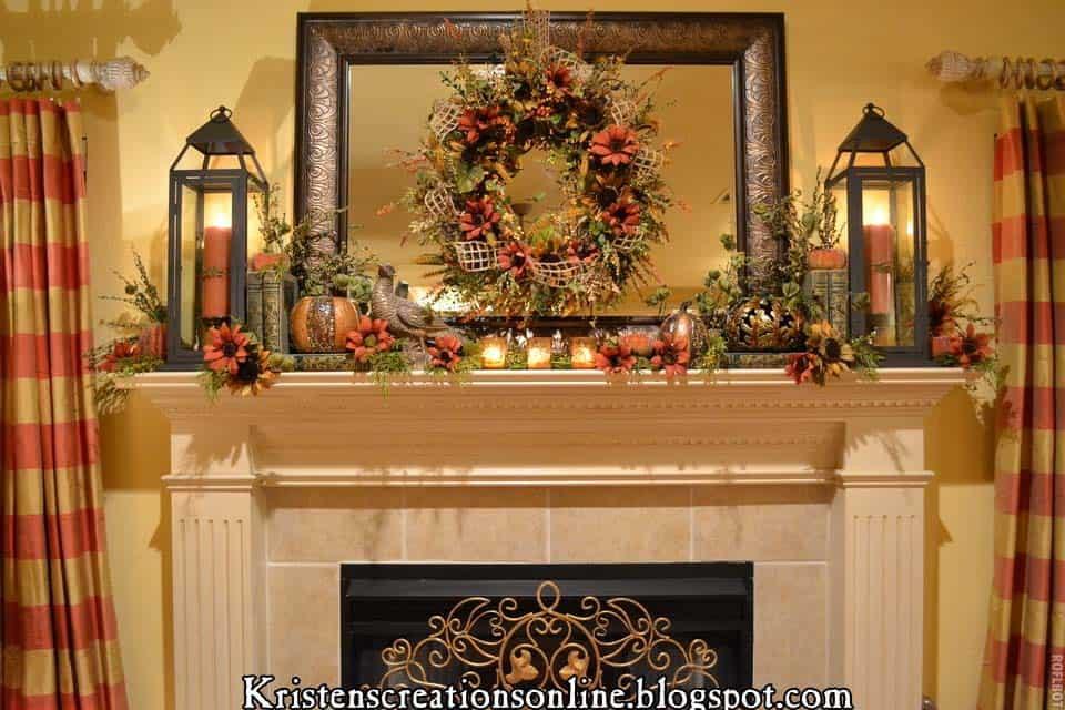 Fall Decor For Fireplace Mantel  30 Amazing fall decorating ideas for your fireplace mantel