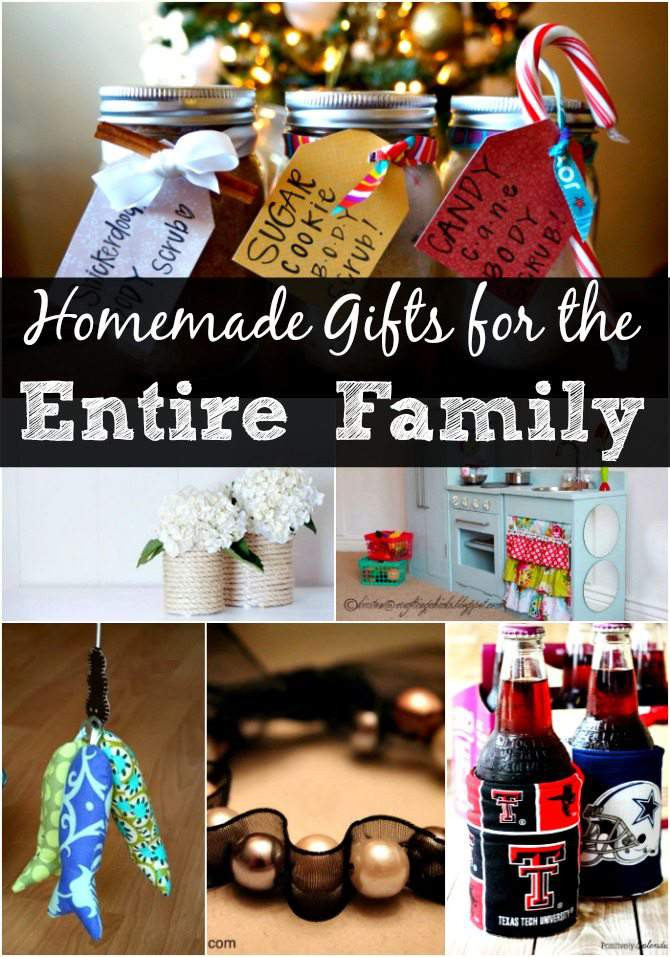 Family Christmas Gift Ideas  DIY Christmas Gift Ideas for the Entire Family – over 30