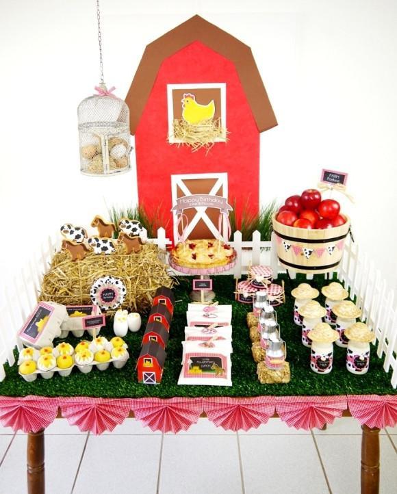 Farm Birthday Party Decorations  Barnyard Birthday Party Printables Supplies