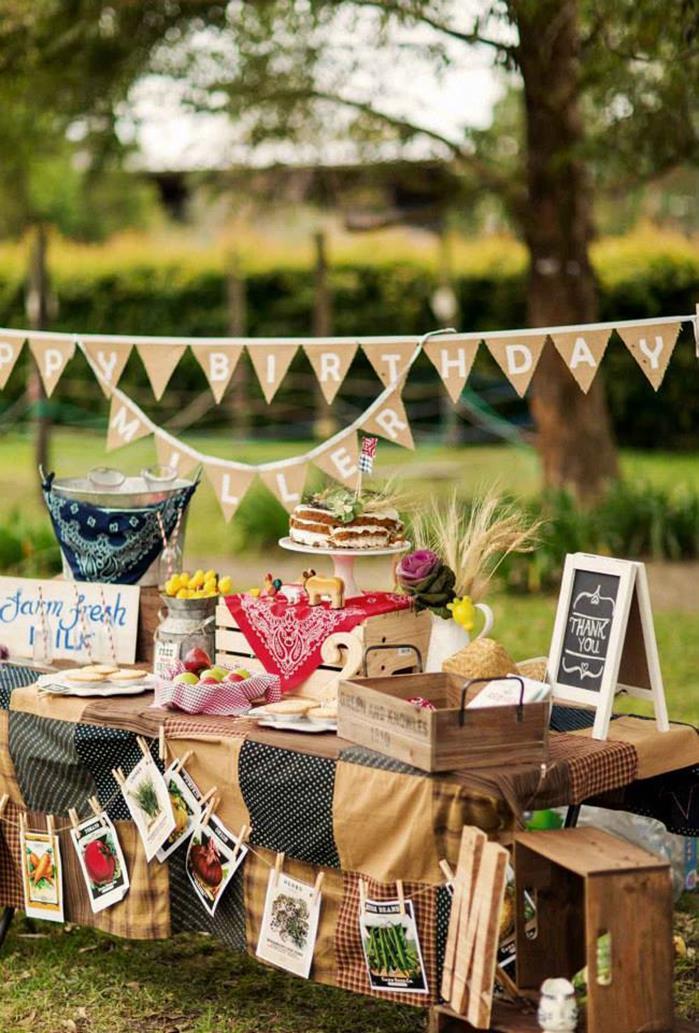 Farm Birthday Party Decorations  Kara s Party Ideas Farm Birthday Party Planning Ideas