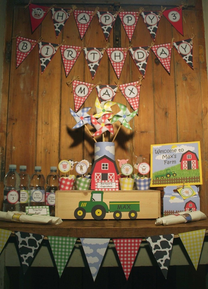 Farm Birthday Party Decorations  390 best images about Farm Birthday Party on Pinterest