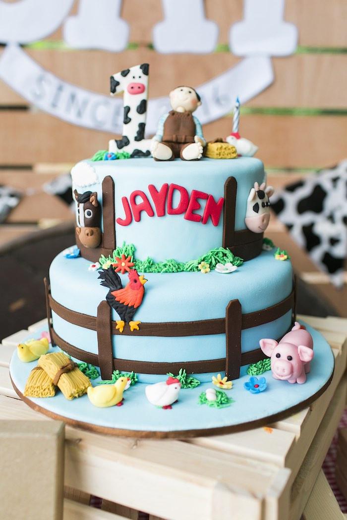 Farm Birthday Party Decorations  Kara s Party Ideas Down at the Farm Birthday Party