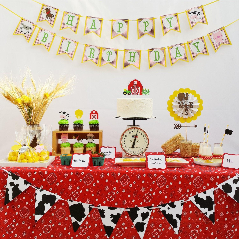 Farm Birthday Party Decorations  Farm Birthday Party Decorations Package Farm Animals Garland