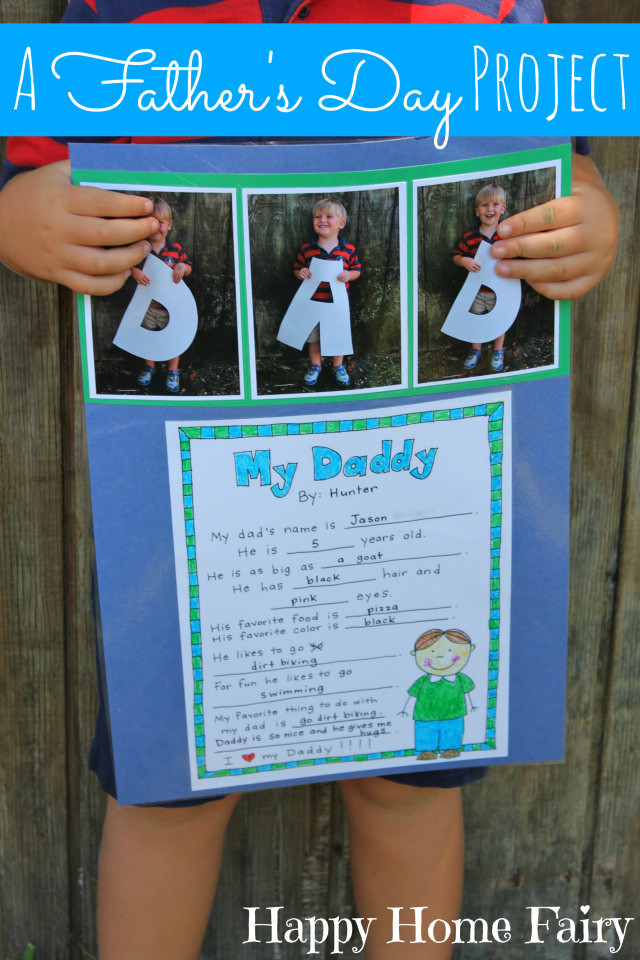 Father'S Day Gift Ideas For Preschoolers To Make  A Father s Day Project FREE Printable Happy Home Fairy