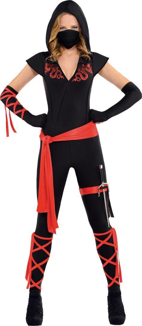 Female Ninja Costume DIY  Adult Dragon Fighter Ninja Costume Party City