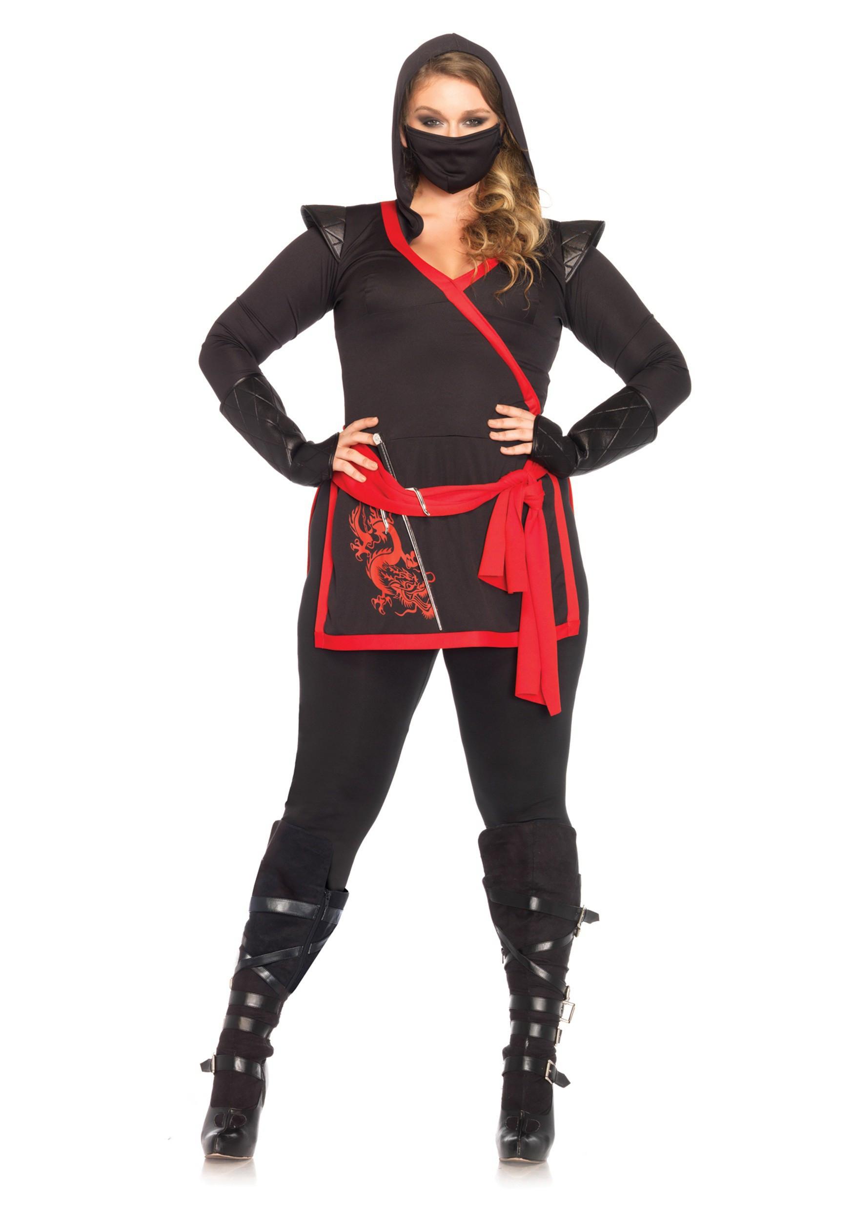Female Ninja Costume DIY  Plus Size Ninja Assassin Costume 1X 2X 3X 4X