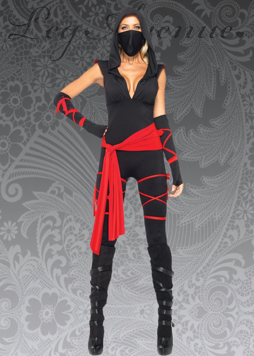 Female Ninja Costume DIY  Womens Deluxe Cute Ninja Warrior Costume