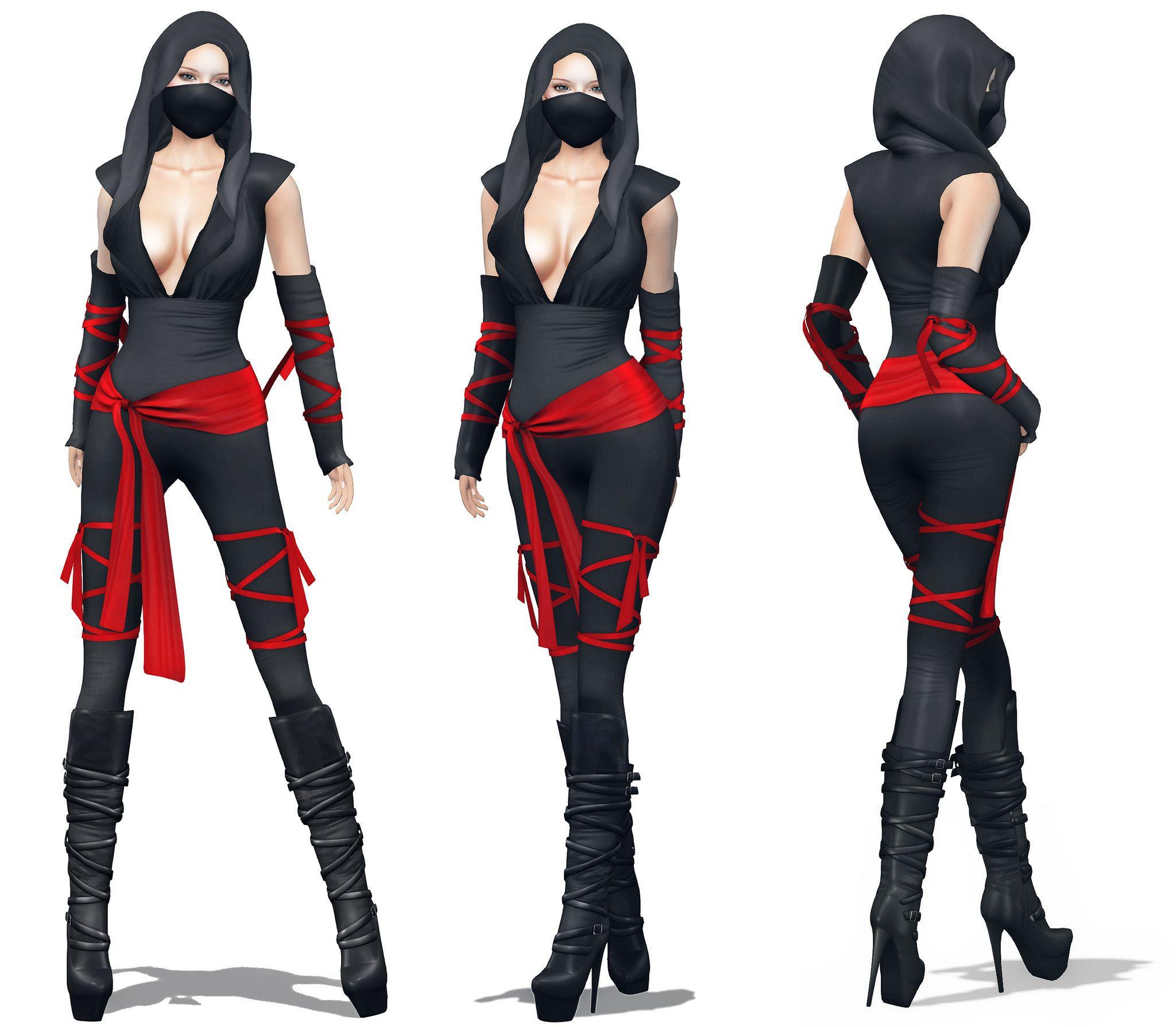Female Ninja Costume DIY  Womens Ninja Costume