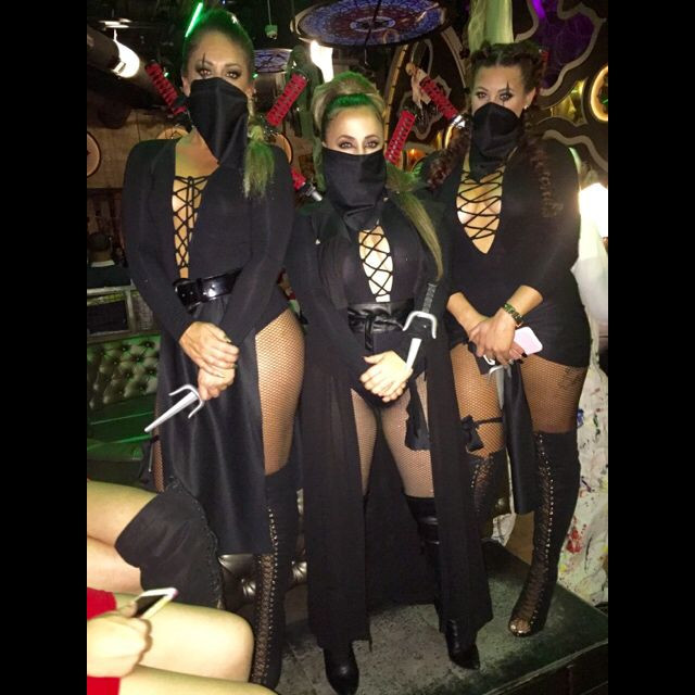 Female Ninja Costume DIY  Women Ninja Halloween Costumes cute DIY ADULT Women