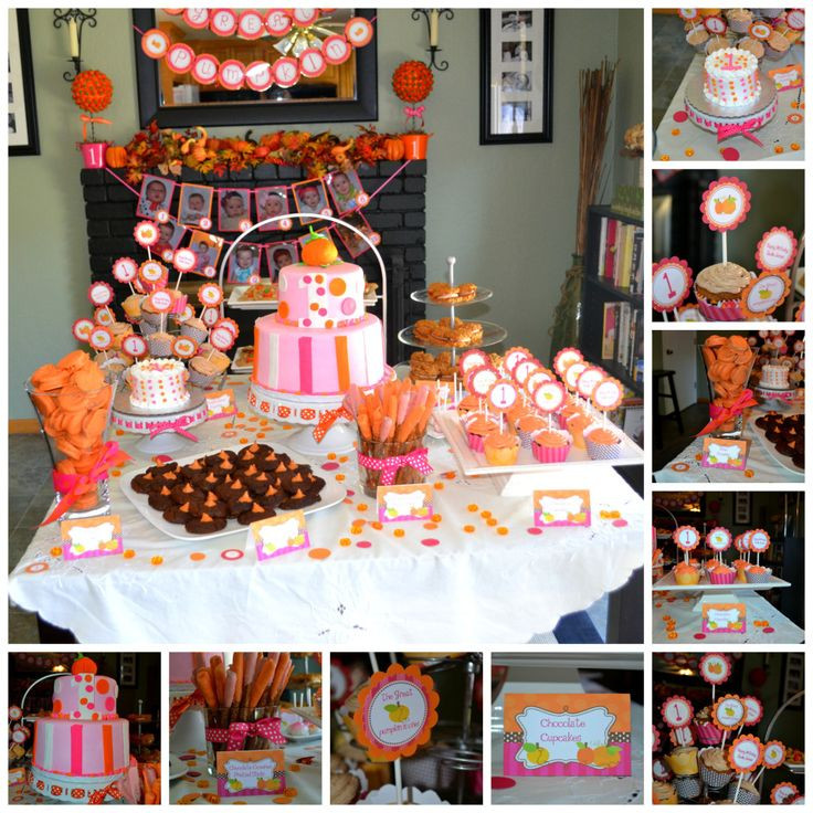 First Birthday Halloween Party Ideas  25 best ideas about Pink Pumpkins on Pinterest