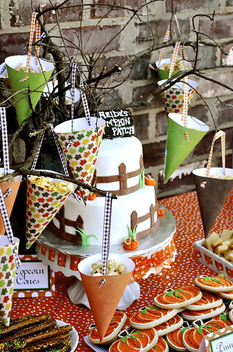 First Birthday Halloween Party Ideas  Kara s Party Ideas Pumpkin Patch 1st Birthday Party