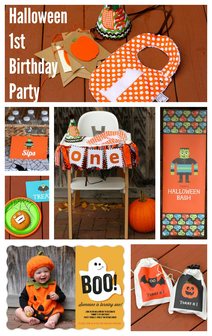 First Birthday Halloween Party Ideas  A Halloween First Birthday Party Invites Decor and Party