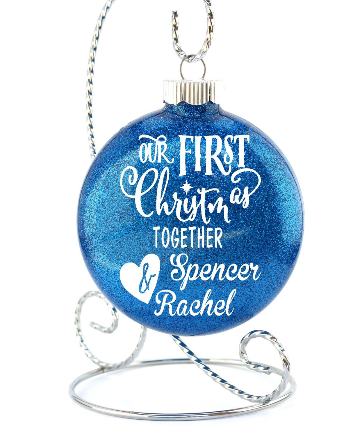 First Christmas Together Gift Ideas  Our First Christmas To her Couples Ornament Ornament