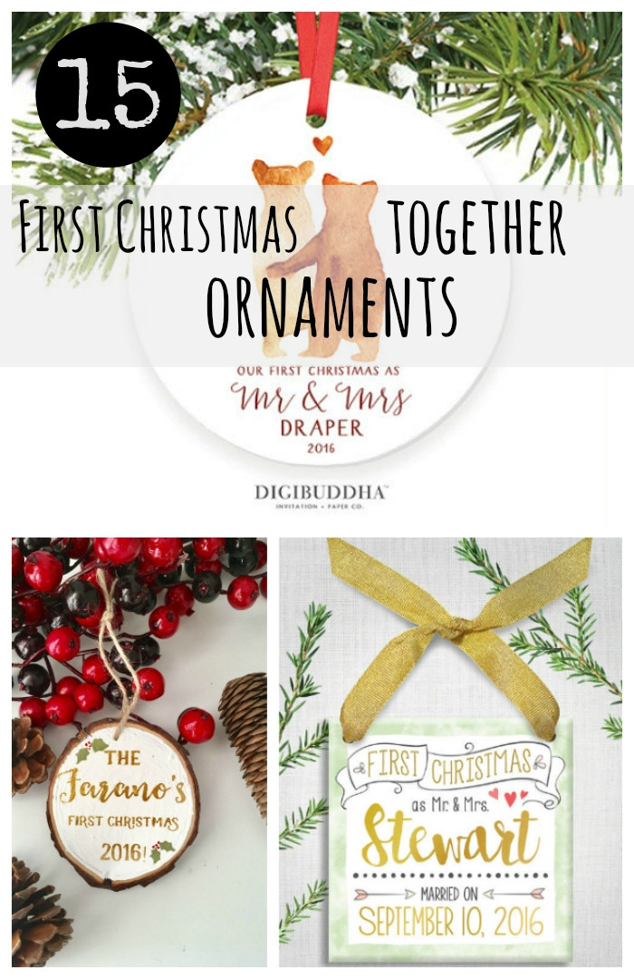 First Christmas Together Gift Ideas  15 First Christmas To her Ornaments 2016 Etsy Gift