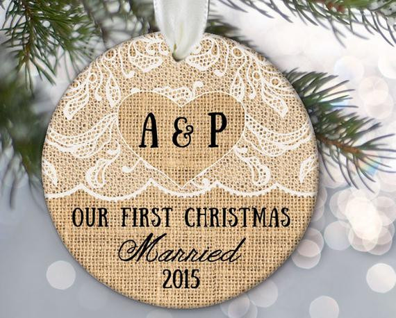 First Christmas Together Gift Ideas  Our First Christmas Married Engaged To her Personalized