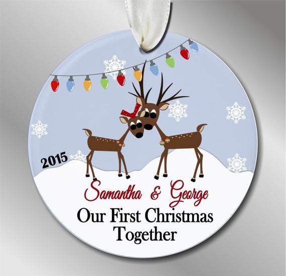 First Christmas Together Gift Ideas  Our First Christmas To her Ornament by eofakindalways