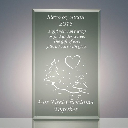 First Christmas Together Gift Ideas  Our First Christmas To her Jade Acrylic Gift Plaque