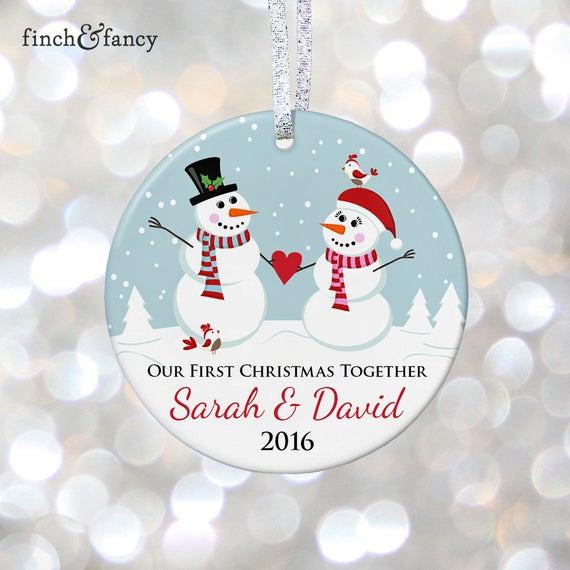 First Christmas Together Gift Ideas  Boyfriend and Girlfriend Ornament 1st Christmas To her Gift