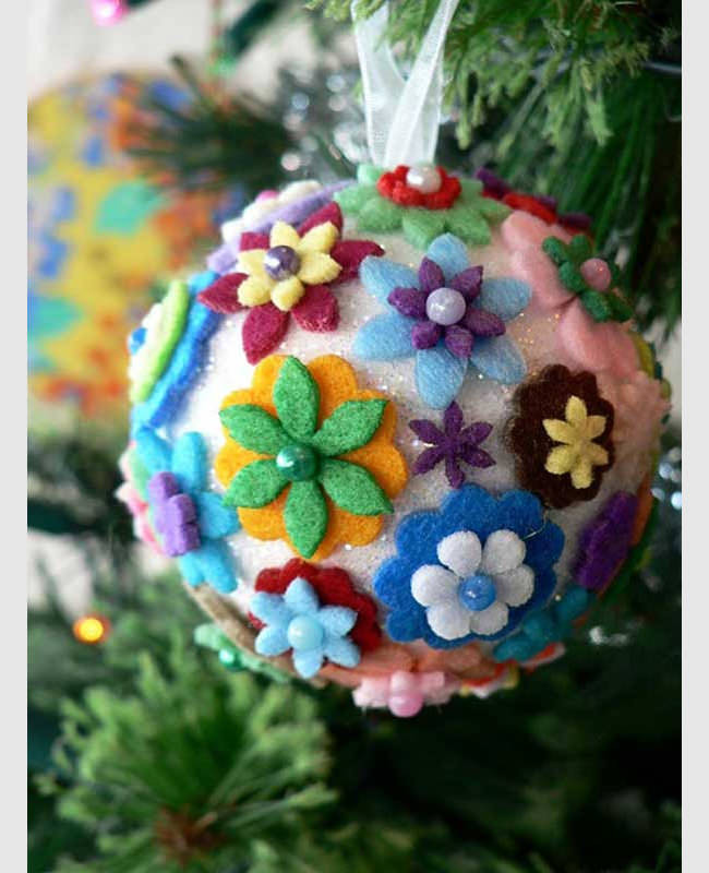 Flower Christmas Ornaments  66 Best Christmas Craft Templates Printable Christmas