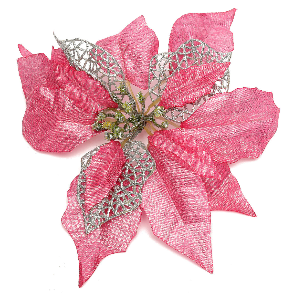 Flower Christmas Ornaments  Artificial Flower Christmas Tree Decorations Xmas Party