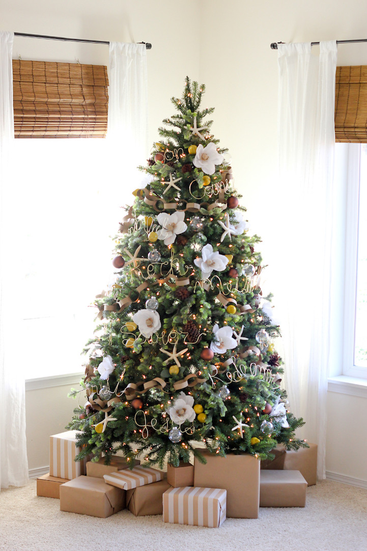 Flower Christmas Ornaments  Christmas Trees Are Decorated with Flowers Instead of