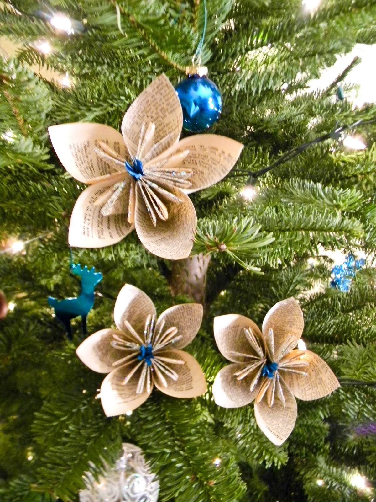 Flower Christmas Ornaments  From Dahlias to Doxies DIY Vintage Dictionary Flowers