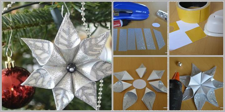 Flower Christmas Ornaments  DIY Flower Christmas Ornament