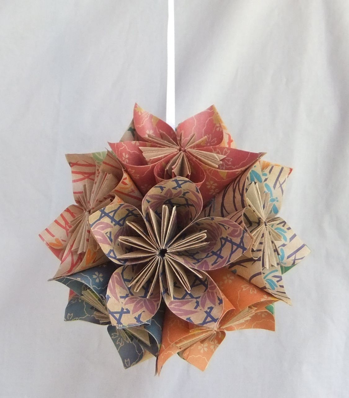 Flower Christmas Ornaments  Origami Flower Ornament The Natural Christmas Tree