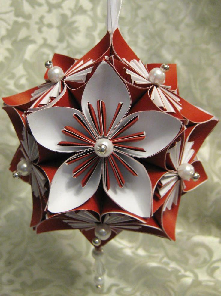 Flower Christmas Ornaments  DIY Kusudama Flower & Ornament Christmas