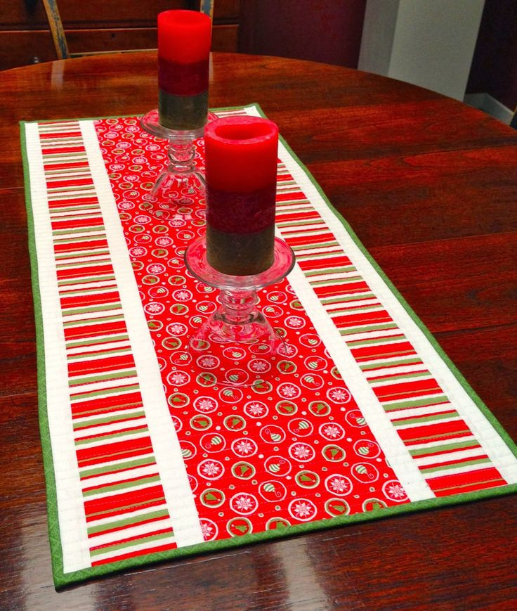 Free Christmas Table Runner Patterns  Table Runner Patterns Free WoodWorking Projects & Plans