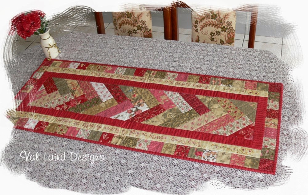 Free Christmas Table Runner Patterns  Val Laird Designs Journey of a Stitcher Free Block of