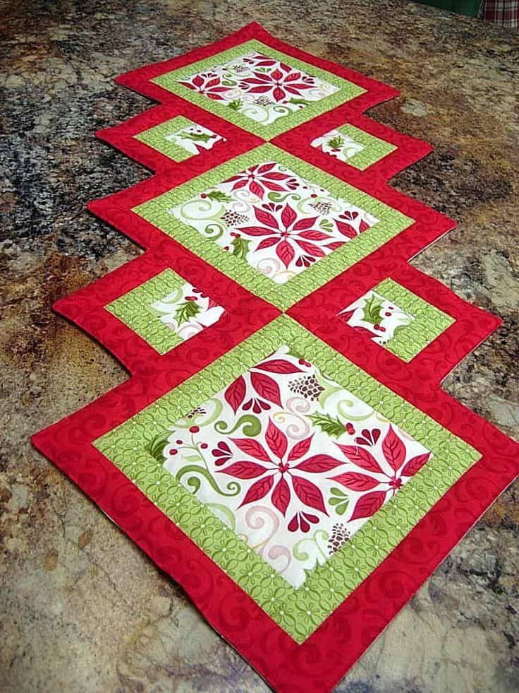 Free Christmas Table Runner Patterns  17 DIY Quilted Table Runner Ideas For All Year Round