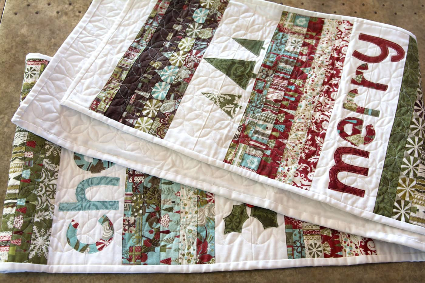 Free Christmas Table Runner Patterns  Merry & Cheer Quilted Christmas Table Runner Pattern The