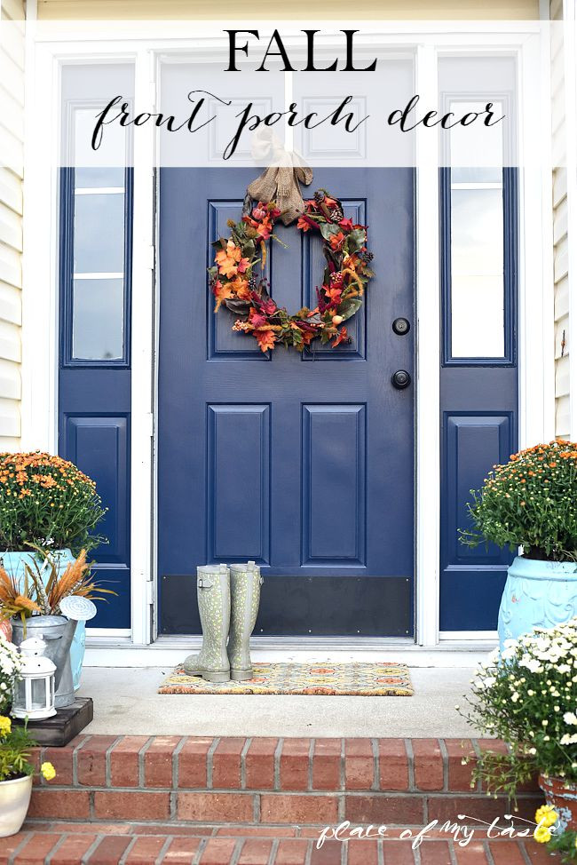 Front Porch Fall Decorating Pictures  FALL FRONT PORCH DECOR PLACE OF MY TASTE