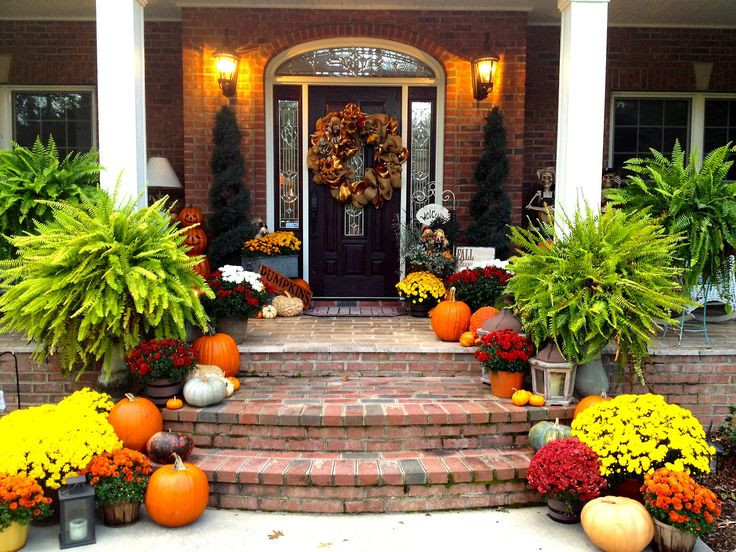 Front Porch Fall Decorating Pictures  25 best Front Porch Plants ideas on Pinterest