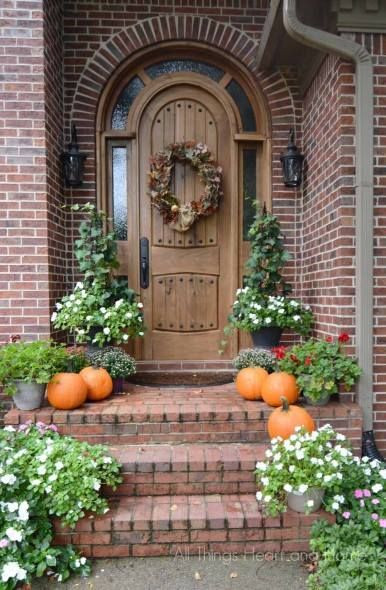 Front Porch Fall Decorating Pictures  Best 20 Rustic elegant home ideas on Pinterest